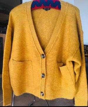 Topshop Knitted Cardigan gold orange polyester