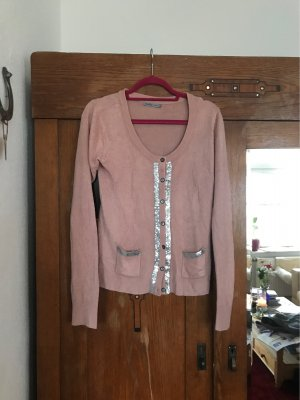 Soaked in luxury Giacca in maglia argento-rosa antico