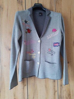 bpc bonprix collection Sweter z dzianiny srebrny-ceglasty