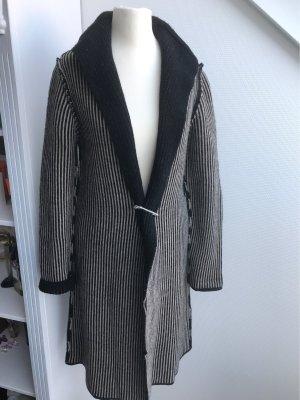 Cocogio Giacca di lana nero-crema