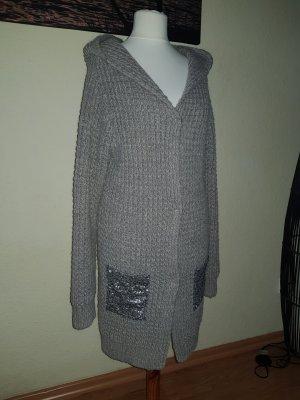 Rich & Royal Abrigo de punto marrón grisáceo