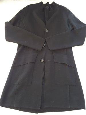 Uli Knecht Manteau en tricot noir laine
