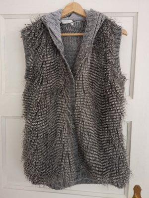 Strickjacke Strickweste Fake Fur Wollanteil Promod Gr.40