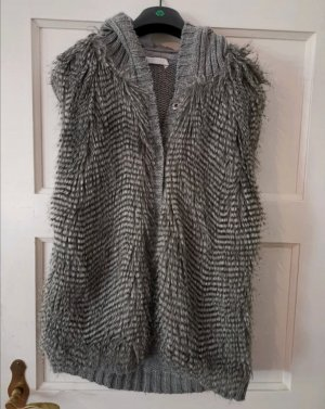 Strickjacke Strickweste mit Fellbesatz Fake Fur Promod Gr.40