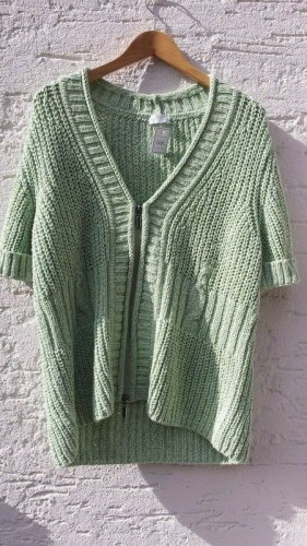 Bonita Short Sleeve Knitted Jacket lime-green mixture fibre