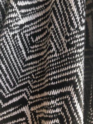 Chaqueta de tela de sudadera blanco-negro