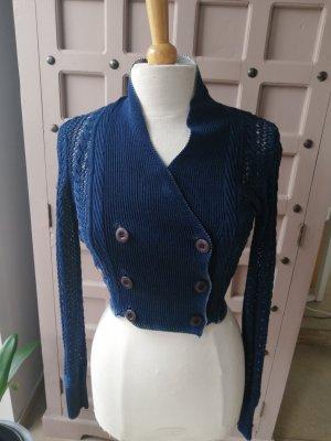 Tigerhill Knitted Cardigan white-dark blue