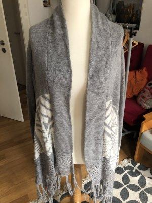 Key Largo Poncho en tricot gris-blanc