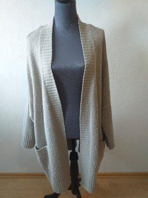 Zara Knit Coarse Knitted Jacket beige