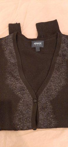 Armani Collezioni Veste en tricot noir