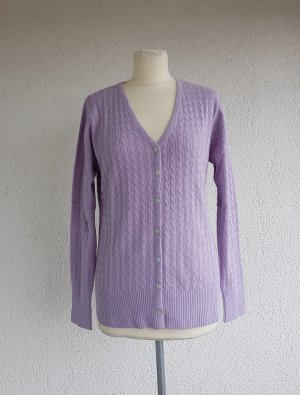Basic Line Knitted Cardigan lilac