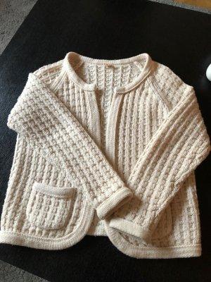 Boss Orange Coarse Knitted Jacket natural white