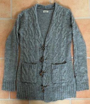 Boysen's Veste tricotée en grosses mailles gris acrylique