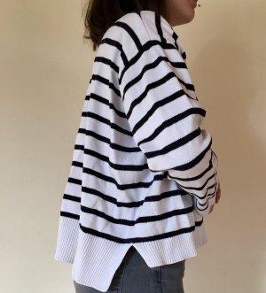 COS Gilet blanc-noir coton