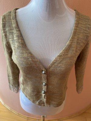 Cream Short Sleeve Knitted Jacket beige