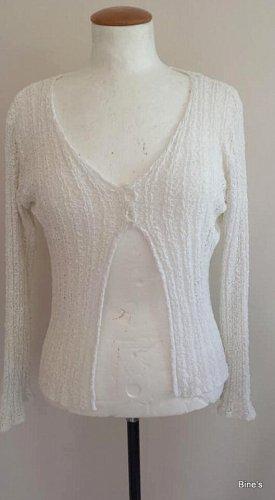 Fransa Cardigan white cotton