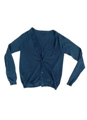 Joseph Cardigan tricotés bleu pétrole-bleu cadet laine
