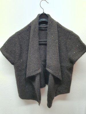 Luisa Cerano Short Sleeve Knitted Jacket brown-dark brown
