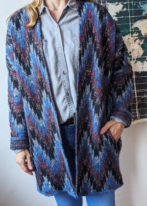 Maje Coarse Knitted Jacket multicolored