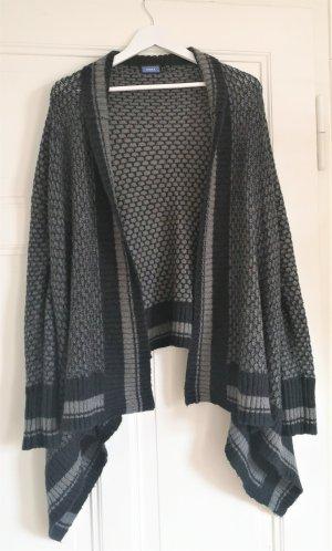 Mexx Coarse Knitted Jacket black-grey alpaca wool
