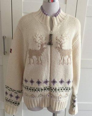 Napapijri Veste en tricot multicolore laine