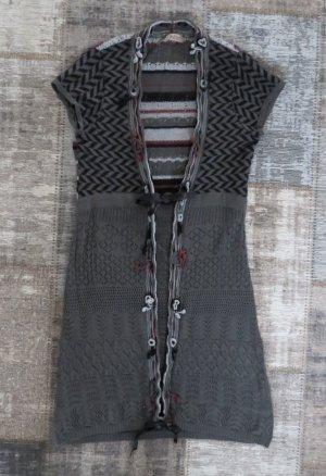 Qiero Cárdigan de manga corta gris oscuro Algodón
