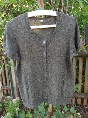 s. Oliver (QS designed) Short Sleeve Knitted Jacket olive green-khaki