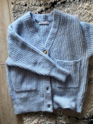 Strickjacke von Zara babyblau S Damen super schön kuschelig neu