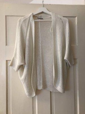 Orsay Short Sleeve Knitted Jacket white