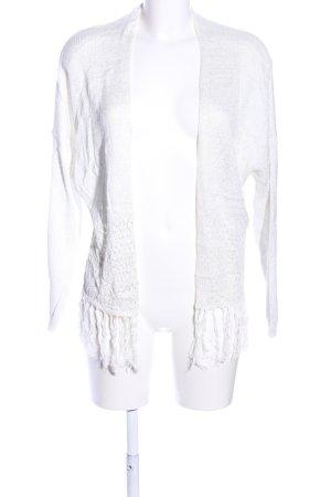 Carminn Veste en tricot blanc style décontracté