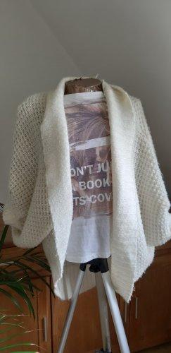 Gina Cardigan à manches courtes blanc cassé laine