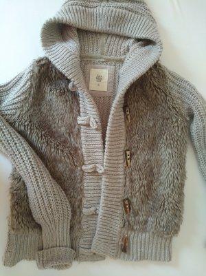Zara Knit Grof gebreid vest grijs-bruin