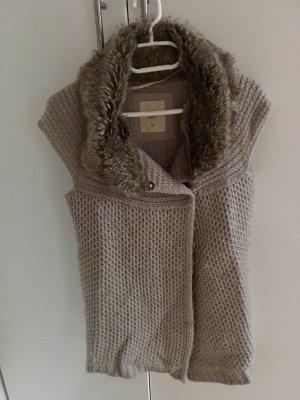 Zara Knit Cardigan à manches courtes multicolore laine
