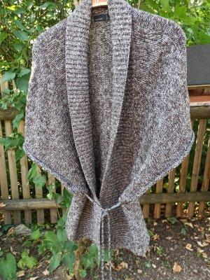 Vero Moda Short Sleeve Knitted Jacket white-dark brown