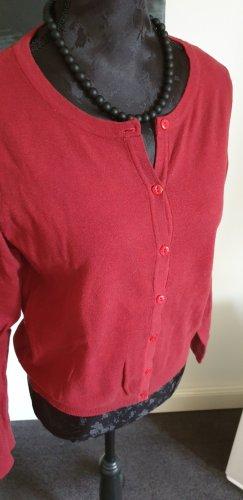 Veste chemise rouge foncé