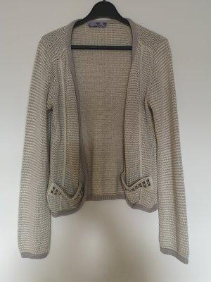 AJC Cardigan tricotés gris clair-beige clair