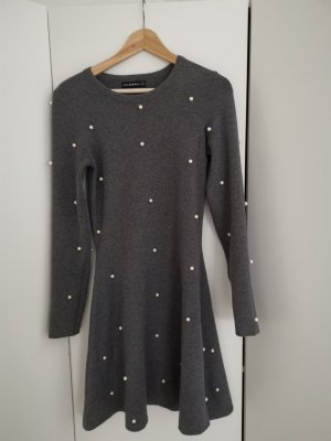 Zara Trafaluc Woolen Dress white-grey