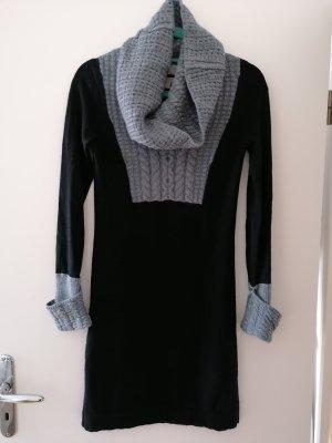 Gharani Strok Vestido de lana negro-gris