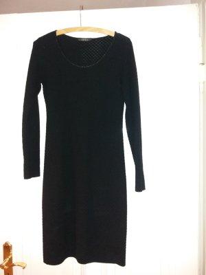 Esprit Sukienka z dzianiny czarny-srebrny Bawełna