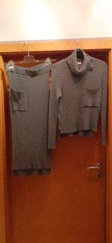 Mango Vestido tipo jersey gris Viscosa