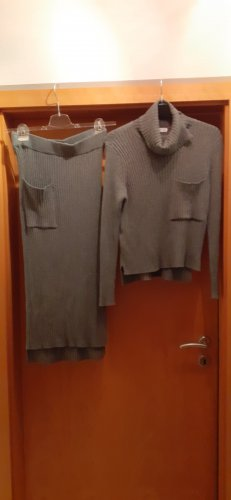 Mango Sweaterjurk grijs Viscose
