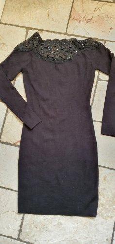 Bluoltre Sukienka z dzianiny czarny