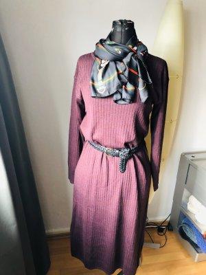 Uniqlo Robe en maille tricotées brun pourpre