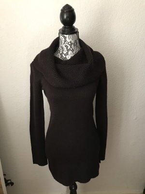 H&M Vestido tejido marrón-negro-negro