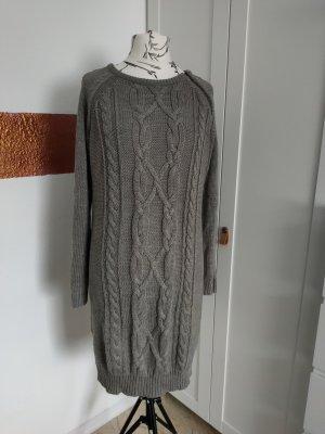 b.p.c. Bonprix Collection Abito di maglia marrone-grigio Acrilico