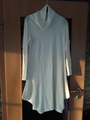 Angela Davis Gebreide jurk wit-licht beige