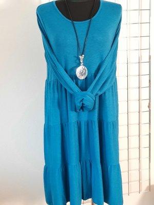 Made in Italy Sukienka o kroju koszulki petrol