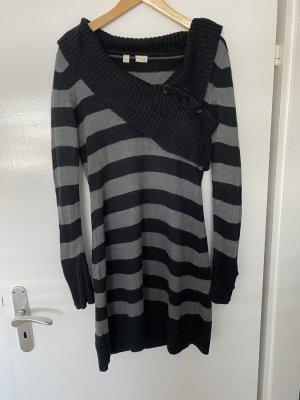Bodyflirt Vestido tejido negro-gris oscuro