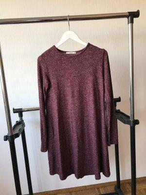 Pull & Bear Sweat Dress bordeaux
