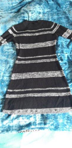 LU NYC Vestito di lana nero-grigio